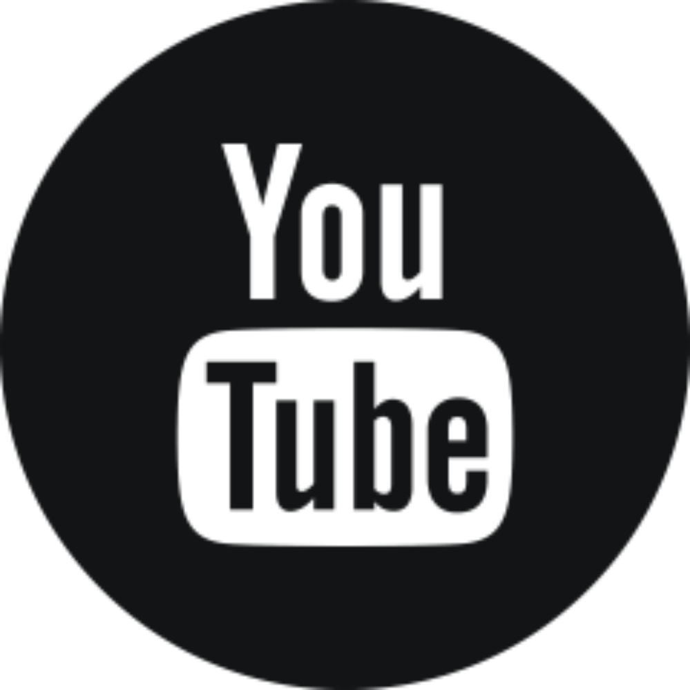 YouTube social media logo and link